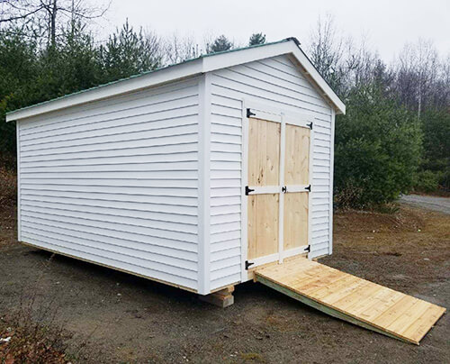 Outdoor Storage Shed With Vinyl Siding