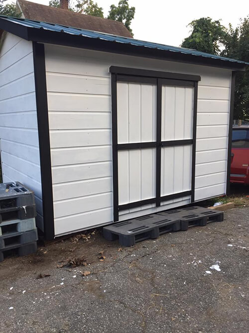 Painted Outdoor Storage Shed