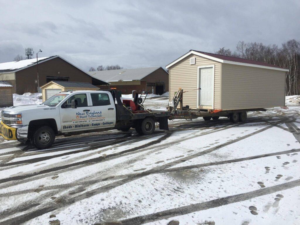 Delivering Sheds in Snow