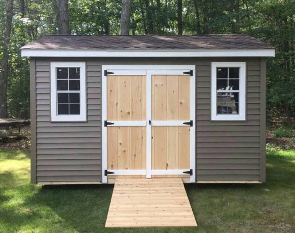 Maine Made Storage Shed with 2 Windows